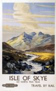 Isle of Skye, Scotland, Vintage Scottish Railway Travel Poster Print